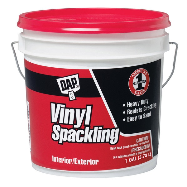 Dap 12133 1 Gallon White All Purpose Vinyl Spackle Interior/Exterior
