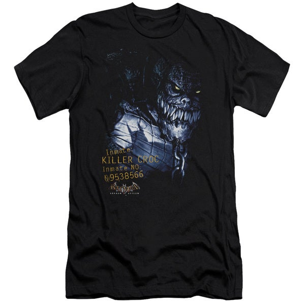 Batman Aa/Arkham Killer Croc Short Sleeve Adult T-Shirt 30/1 in Black
