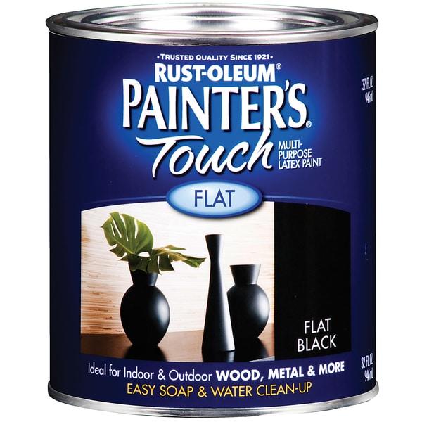 Painters Touch 1976-502 1 Quart Flat Black Painters Touch Multi-Purpose Paint