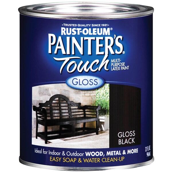 Painters Touch 1979-502 1 Quart Gloss Black Painters Touch Multi-Purpose Paint
