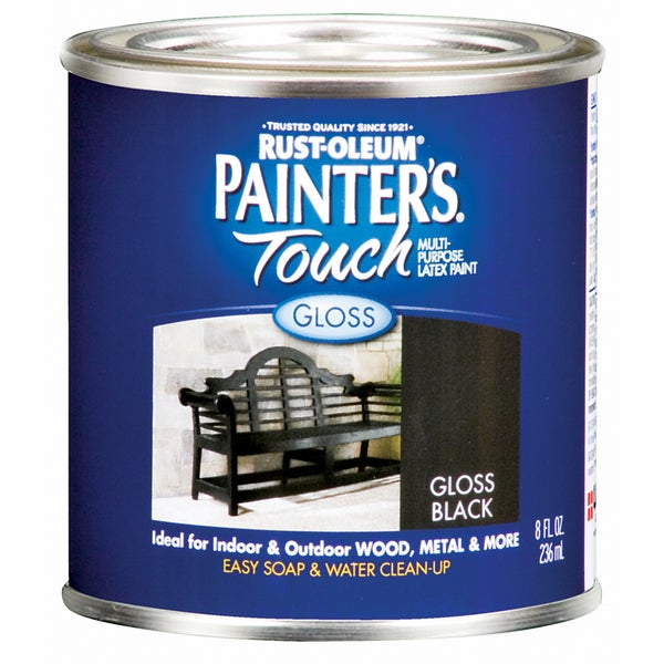 Painters Touch 1979-730 1/2 Pint Gloss Black Painters Touch Multi-Purpose Paint