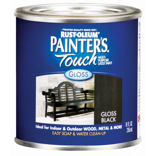 Painters Touch 1979-730 1/2 Pint Gloss Black Painters Touch Multi-Purpose Paint
