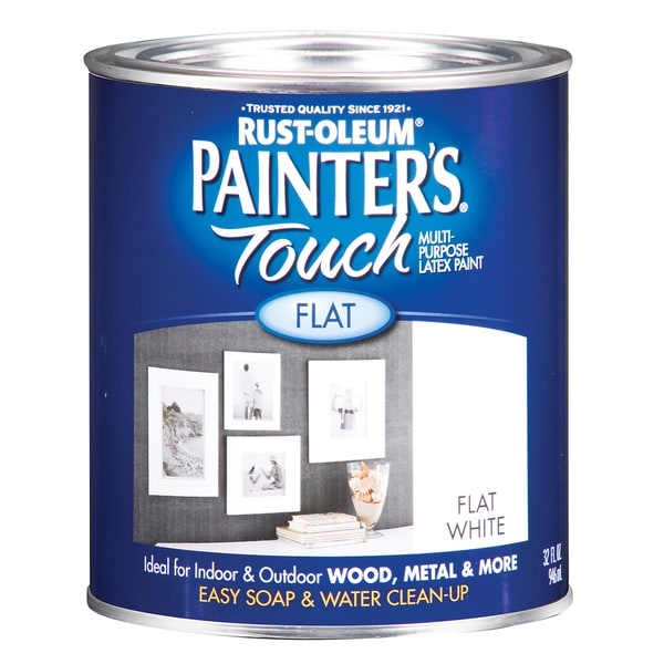 Painters Touch 1990-502 1 Quart Flat White Painters Touch Multi-Purpose Paint