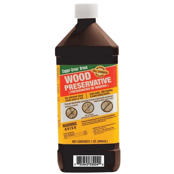 Green Products CB QTS 1 Quart Copper-Green Brown Wood Preservative