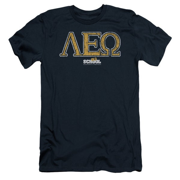 Old School/Leo Short Sleeve Adult T-Shirt 30/1 in Navy