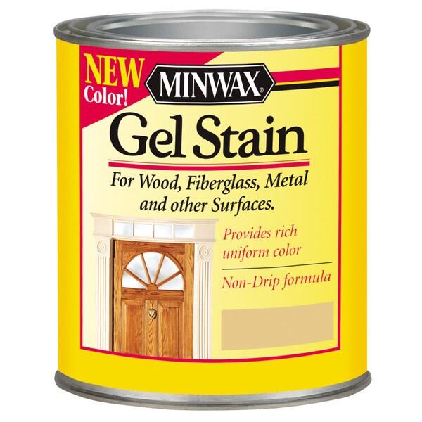 Minwax 26060 1/2 Pint Walnut Gel Stain Interior Wood