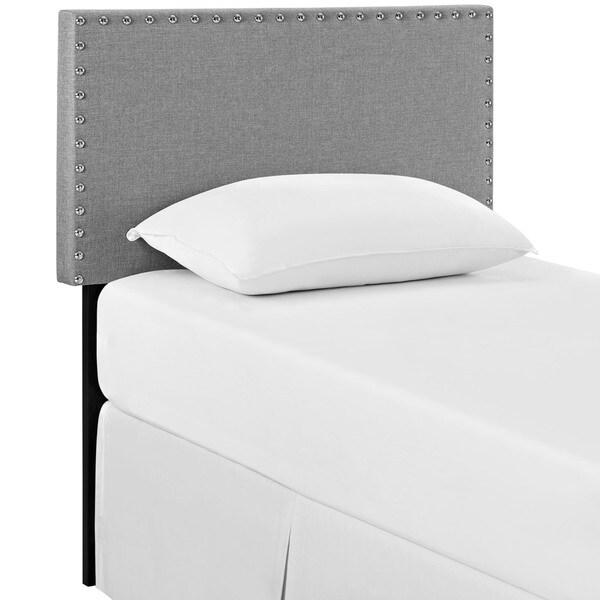 Phoebe Twin Light Grey Fabric Headboard