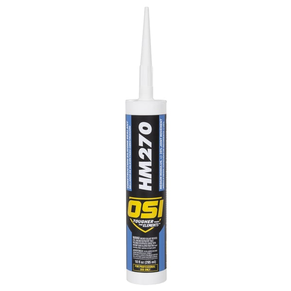 OSI Sealants 1493960 10 Oz White HM-270 Construction Silicone Sealant