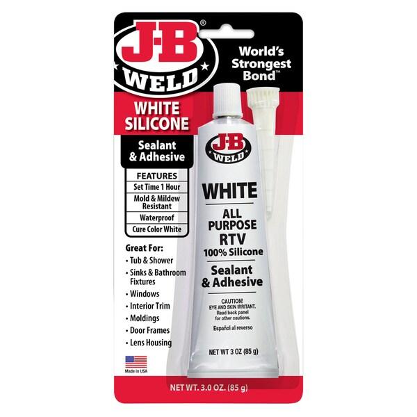 JB Weld 31312 3 Oz White Silicone Sealant & Adhesive