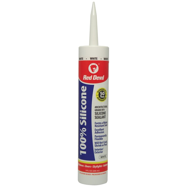 Red Devil 0816 100% White Silicone Sealant