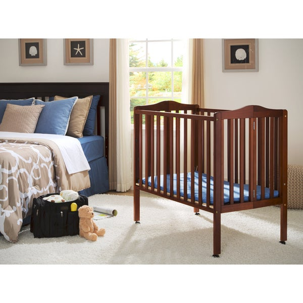 Delta Children Dark Cherry Portable Crib