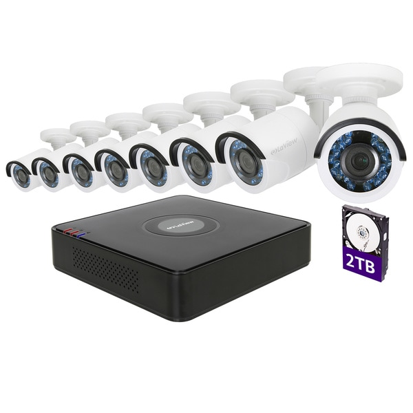LaView 8-channel High Definition DVR Security Surveillance System with 2TB Hard Drive and 8 Full HD 1080p Bullet Cameras