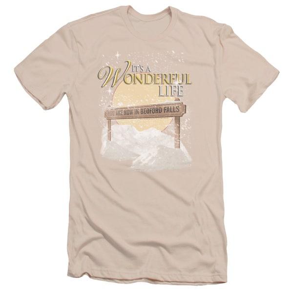 It S A Wonderful Life/Wonderful Story Short Sleeve Adult T-Shirt 30/1 in Cream