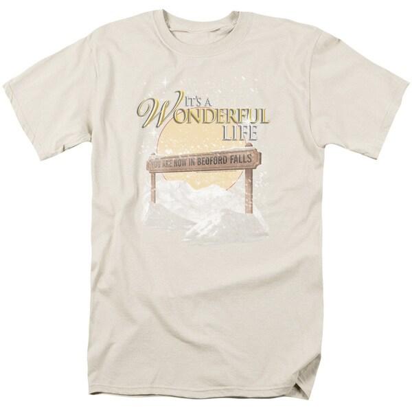 It S A Wonderful Life/Wonderful Story Short Sleeve Adult T-Shirt 18/1 in Cream