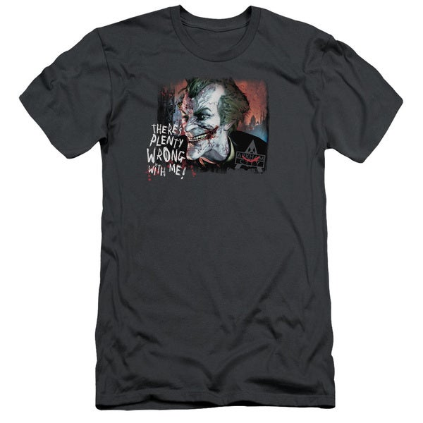 Arkham City/Plenty Wrong Short Sleeve Adult T-Shirt 30/1 in Charcoal