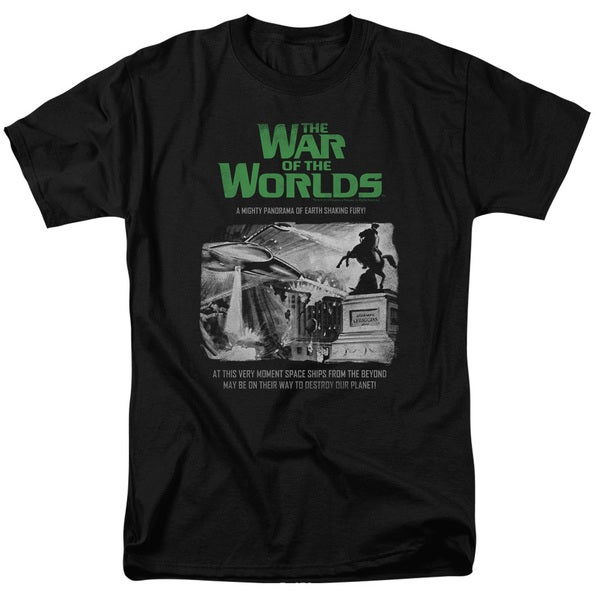 War Of The Worlds/Attack People Poster Short Sleeve Adult T-Shirt 18/1 in Black