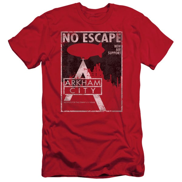 Arkham City/No Escape Short Sleeve Adult T-Shirt 30/1 in Red