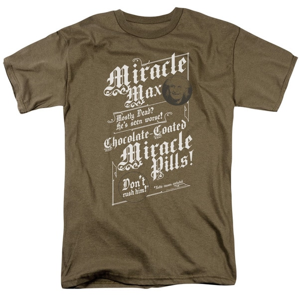 Pb/Miracle Max Short Sleeve Adult T-Shirt 18/1 in Safari Green