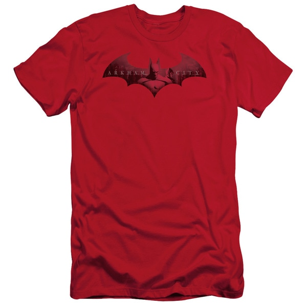 Arkham City/In The City Short Sleeve Adult T-Shirt 30/1 in Red