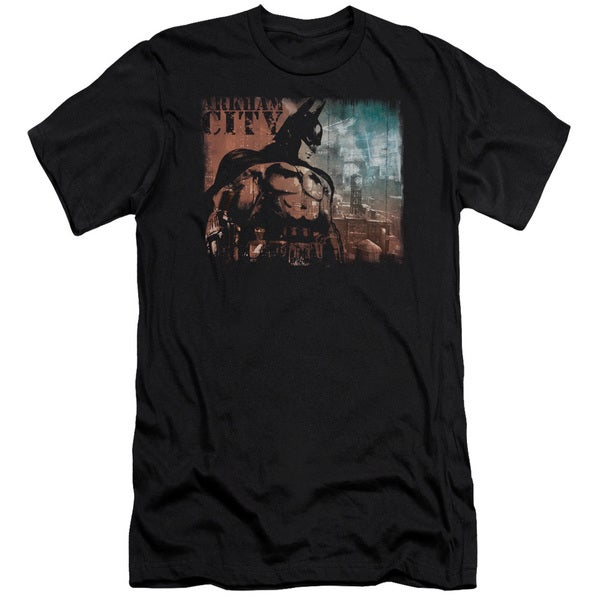 Arkham City/City Knockout Short Sleeve Adult T-Shirt 30/1 in Black