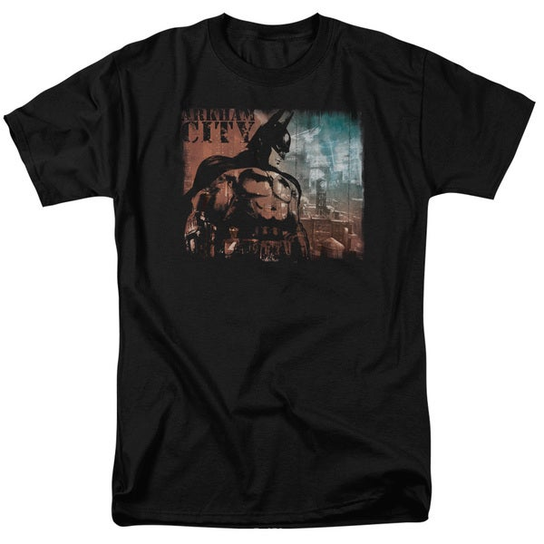Arkham City/City Knockout Short Sleeve Adult T-Shirt 18/1 in Black