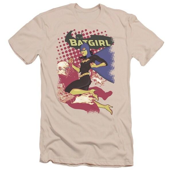 Batman/Batgirl Crunch Short Sleeve Adult T-Shirt 30/1 in Cream