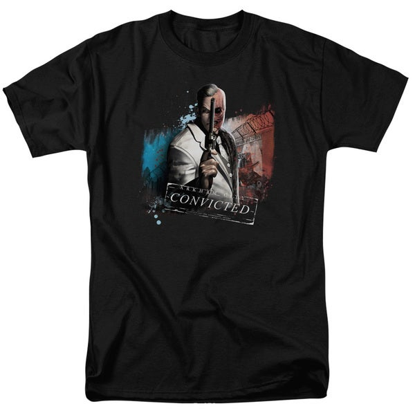 Arkham City/Two Face Short Sleeve Adult T-Shirt 18/1 in Black