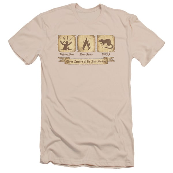 Pb/Three Terrors Short Sleeve Adult T-Shirt 30/1 in Cream