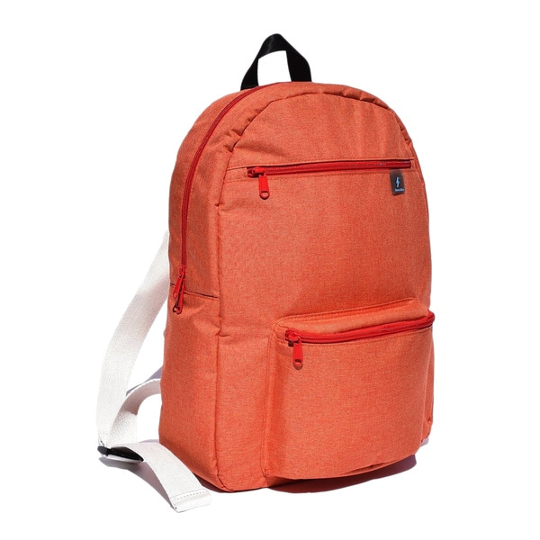 Fresco Zaino Giovanni Orange Fabric 14-inch Laptop Backpack