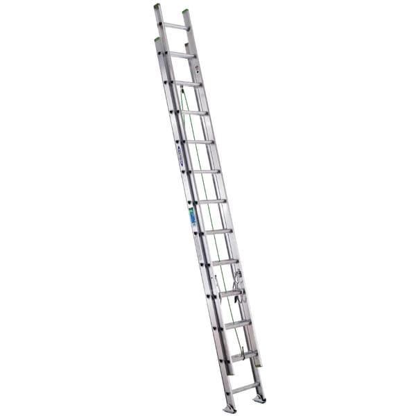 Werner D1224-3 24' Type II Compact Aluminum D-Rung Extension Ladder 20110215