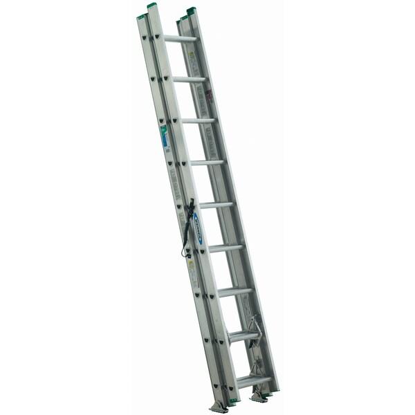 Werner D1224-3 24' Type II Compact Aluminum D-Rung Extension Ladder