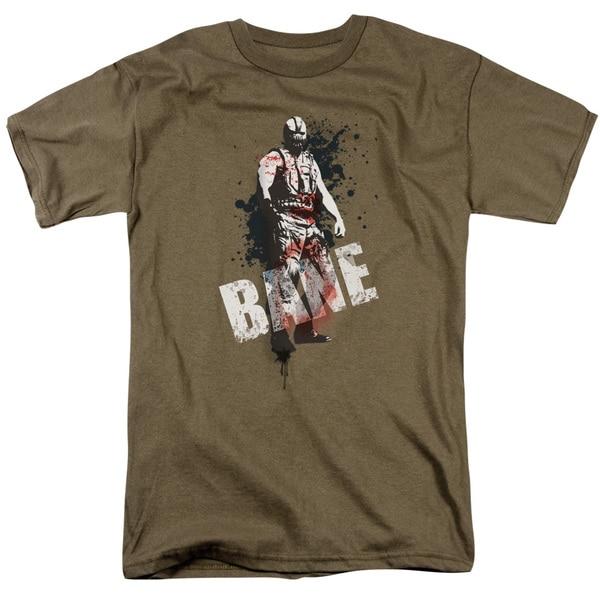 Dark Knight Rises/Bane Splatter Short Sleeve Adult T-Shirt 18/1 in Safari Green