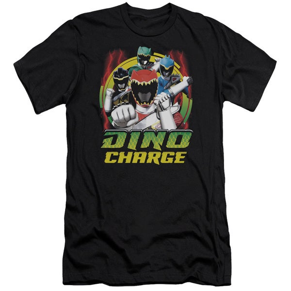 Power Rangers/Dino Lightning Short Sleeve Adult T-Shirt 30/1 in Black