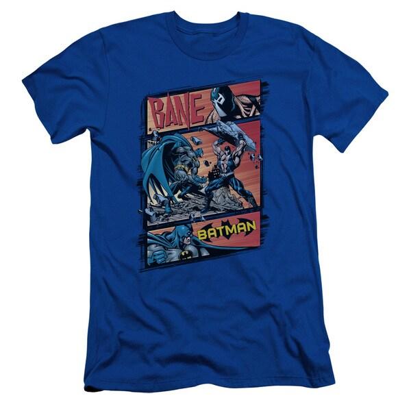 Batman/Epic Battle Short Sleeve Adult T-Shirt 30/1 in Royal