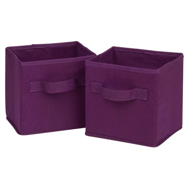 Honey Can Do SFT-02088 Mini Purple Fabric Storage Bin Pack 2-ct