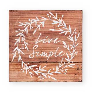 Printed Live Simply Wall Art
