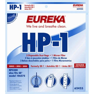 Eureka 62423-12 Eureka HP-1 Filter Bags 3-count