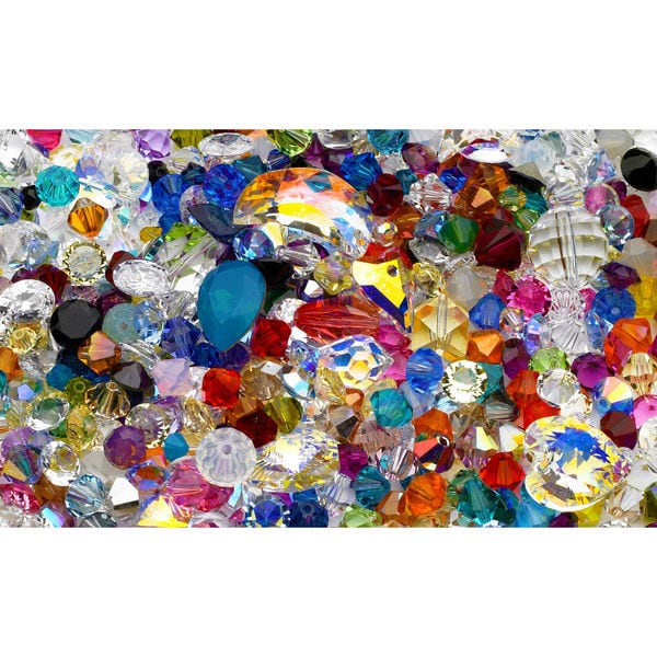 50ct TW Assortment of Mixed Swarovski Crystals and Beads