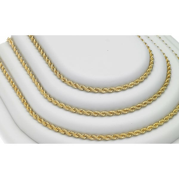 English rope chain necklace