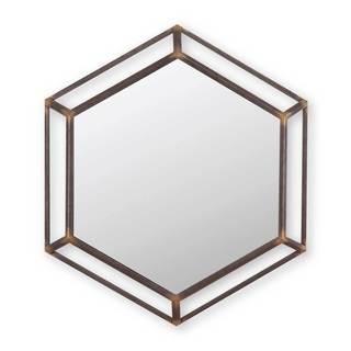 Metal Hexagon Mirror
