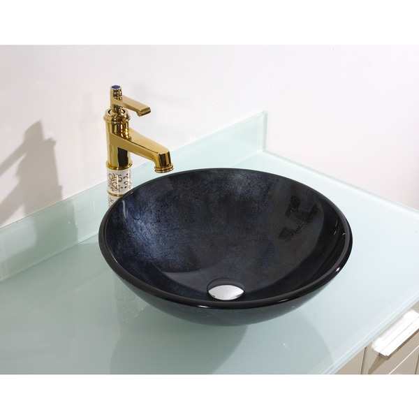 Legion Furniture Midnight Navy Vessel Sink Bowl
