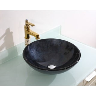Legion Furniture Midnight Navy Vessel Sink Bowl