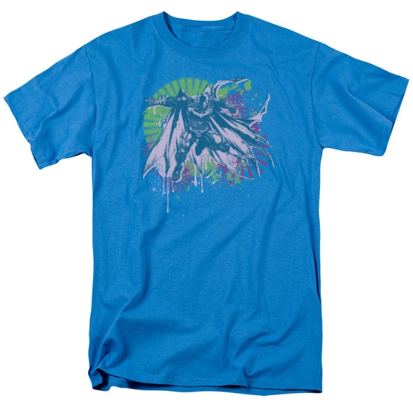 Dark Knight Rises/80S Trash Short Sleeve Adult T-Shirt 18/1 in Turquoise