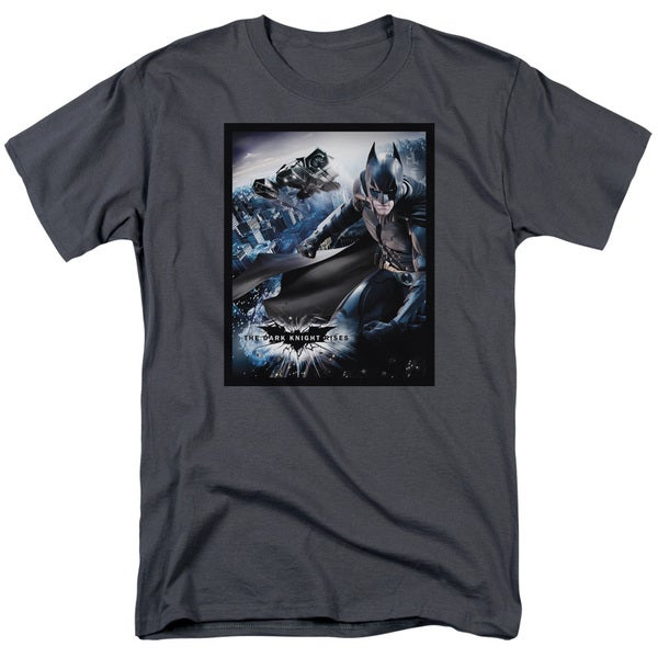 Dark Knight Rises/Batwing Rises Short Sleeve Adult T-Shirt 18/1 in Charcoal