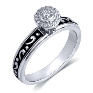 Sterling Silver 1/8ct TDW Round Diamond Cluster Ring (I-J, I2-I3)