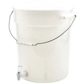 Winco White Beverage Dispenser With Handle