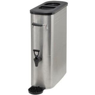 Winco 5-galon Silver Stainless Steel Slim Iced Tea Dispenser