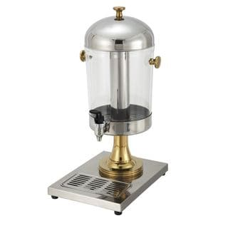 Winco Stainless Steel 7.5-quart Juice Dispenser with Gold Accent