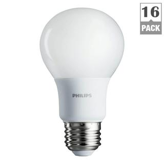 Philips 461129 60-watt Equivalent Soft White A19 LED Light Bulb (Pack of 16)
