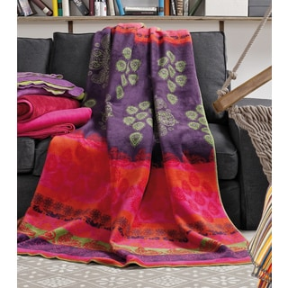 Ibena Hippie Multicolored Cotton-blended Floral Oversized Throw